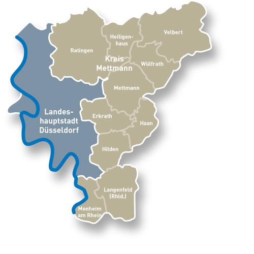 Die Region Düsseldorf und der Kreis Mettmann
