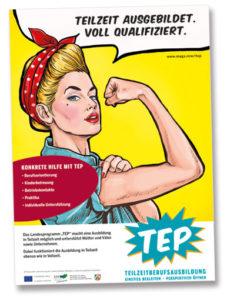 Plakat Teilzeitberufsausbildung TEP